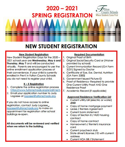 Mountain Park Elementary Registration procedures